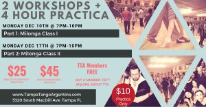 Milonga Workshop + 2 Hour Practica @ Lavelle Hall