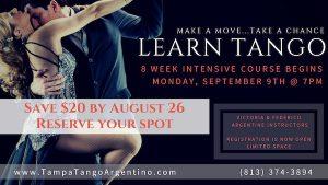 ** NEW ** Tango: 8-Week Intro to Tango @ Lavelle Hall | Tampa | Florida | United States