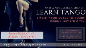 ** NEW ** Tango: 8-Week Intro to Tango @ Lavelle Hall   Tampa   Florida   United States